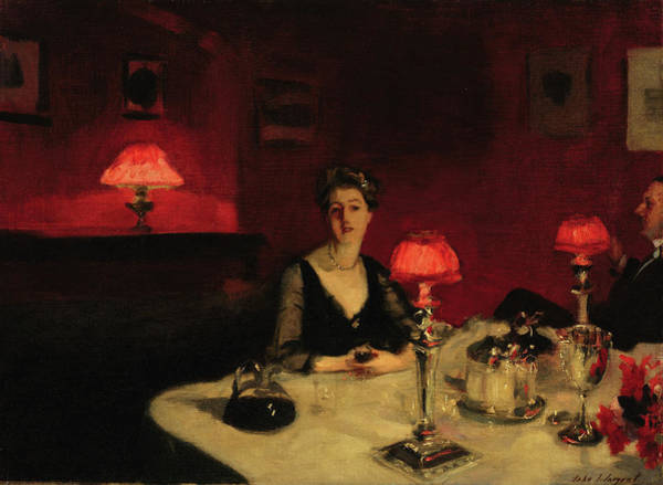 Wall Art - Painting - A Dinner Table At Night by John Singer Sargent
