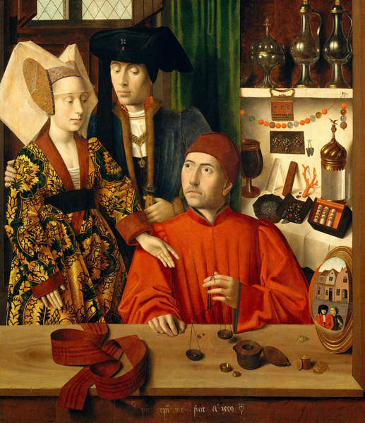 Painting - A Goldsmith In His Shop by Petrus Christus