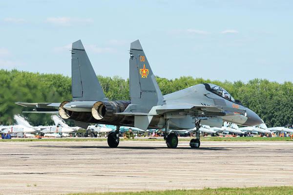 Wall Art - Photograph - A Kazakhstan Air Defense Forces Su-30sm by Daniele Faccioli