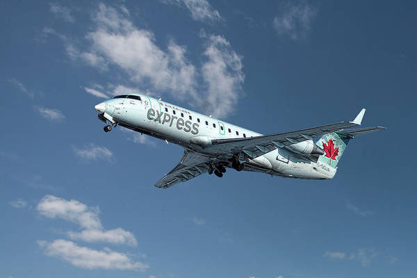 Wall Art - Mixed Media - Air Canada Express Bombardier Crj-200er by Smart Aviation