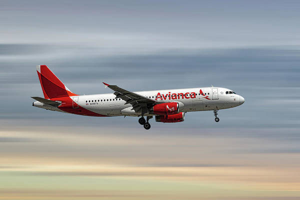 Wall Art - Mixed Media - Avianca Airbus A320-233 by Smart Aviation