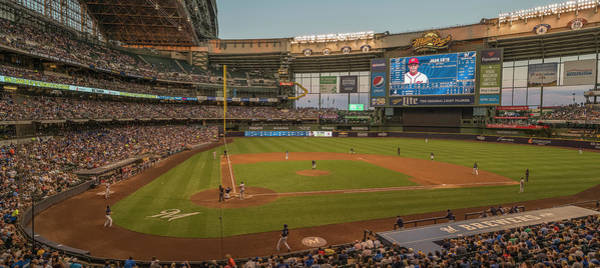 Wall Art - Photograph - Baseball Game At Miller Park by Panoramic Images