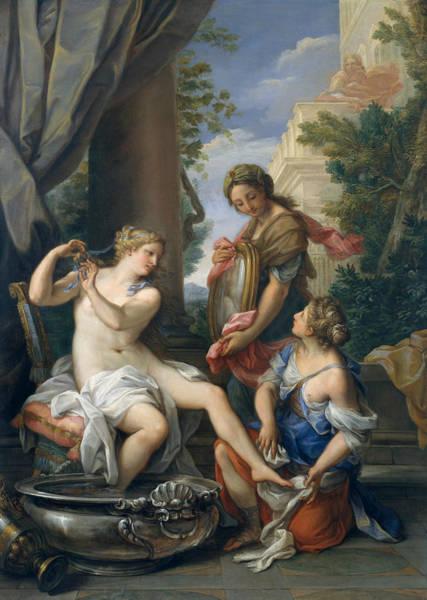 Painting - Bathsheba At Her Bath by Giuseppe Bartolomeo Chiari