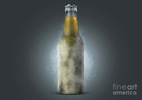 Wall Art - Digital Art - Beer Bottle With Condensation by Allan Swart