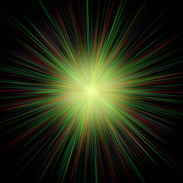 Bangs Digital Art - Big Bang, Conceptual Artwork by Laguna Design