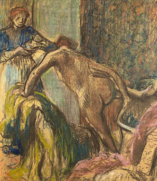Wall Art - Pastel - Breakfast After The Bath by Edgar Degas