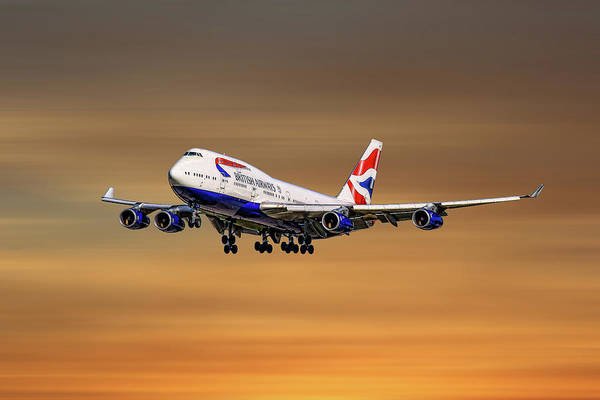 Wall Art - Mixed Media - British Airways Boeing 747-400 by Smart Aviation
