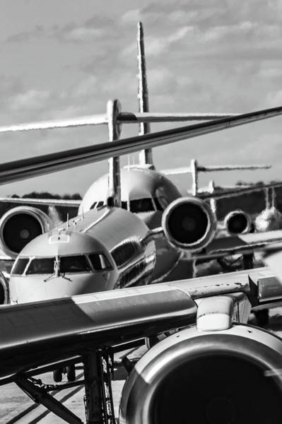 Photograph - Busy Airport Tarmac Traffic Before Airplanes Take Off by Alex Grichenko