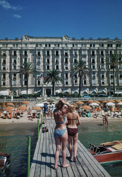 Carlton Hotel Photograph - Cannes France by Michael Ochs Archives