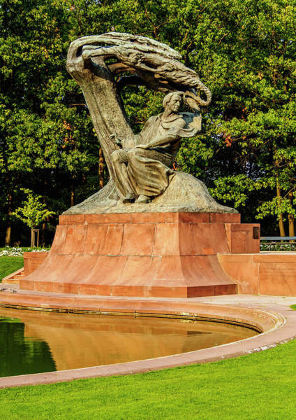 Wall Art - Photograph - Chopin Statue Lazienki Park Or Royal Baths Park Warsaw Masovian Voivodeship Poland by imageBROKER - Karol Kozlowski