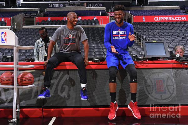 Photograph - Detroit Pistons V La Clippers by Juan Ocampo