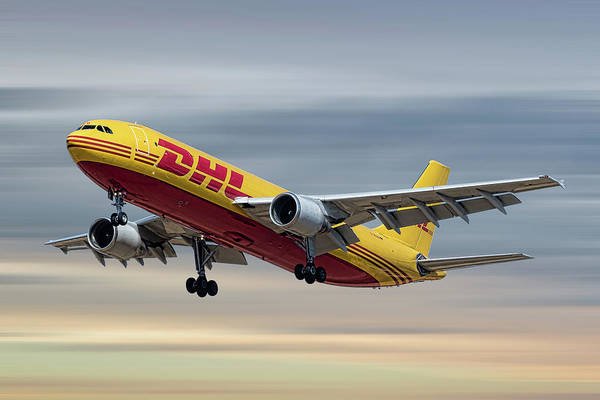 Cargo Wall Art - Mixed Media - Dhl Airbus A300-f4 by Smart Aviation