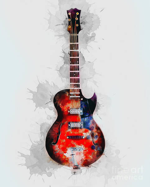 Digital Art - Electric Guitar by Ian Mitchell
