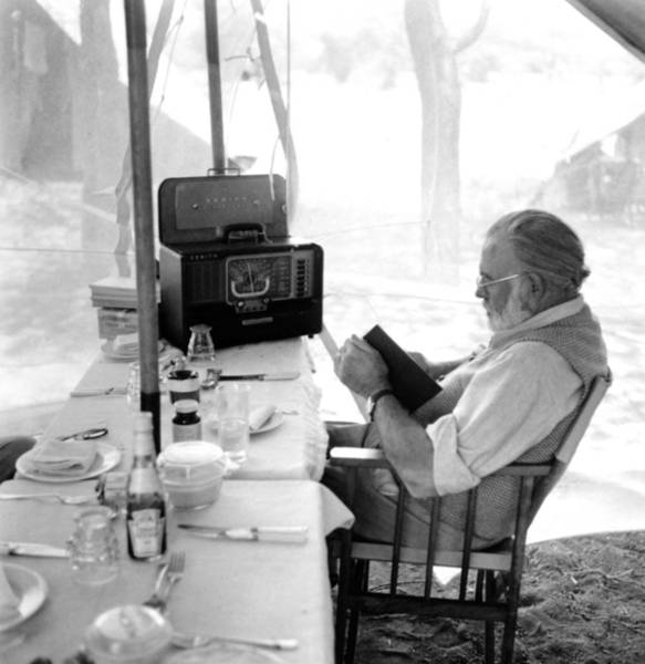 Topix Photograph - Ernest Hemingway On Safari by Earl Theisen Collection