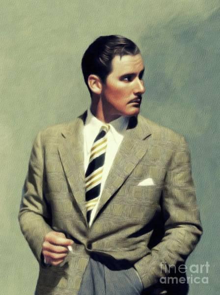 Wall Art - Painting - Errol Flynn, Vintage Movie Star by John Springfield