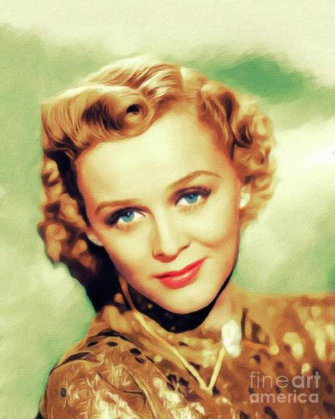 Wall Art - Painting - Gloria Stuart, Vintage Actress by John Springfield