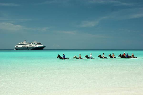 Horseback Photograph - Half Moon Cay, Bahamas Beach Scene by David Smith
