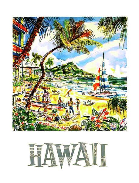 Wall Art - Painting - Hawaii by Long Shot
