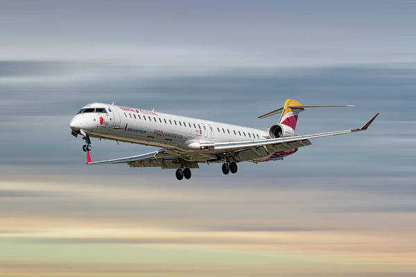 Wall Art - Mixed Media - Iberia Regional Bombardier Crj-1000 by Smart Aviation