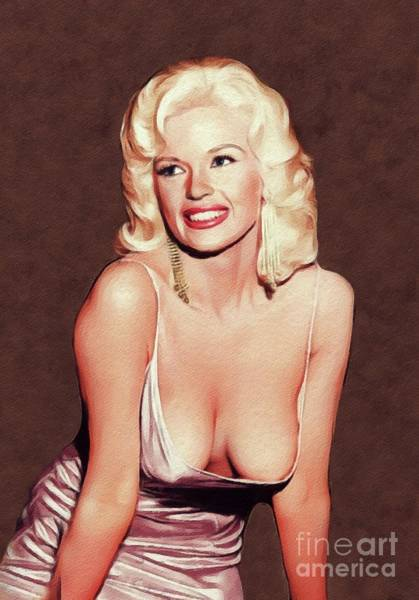 Wall Art - Painting - Jayne Mansfield, Movie Star And Pinup by John Springfield