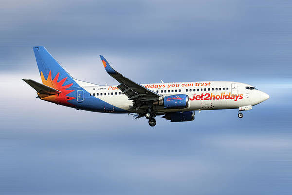 Wall Art - Mixed Media - Jet2 Boeing 737-33v by Smart Aviation