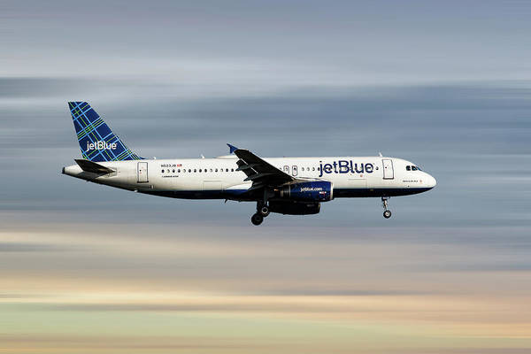 Wall Art - Mixed Media - Jetblue Airways Airbus A320-232 by Smart Aviation