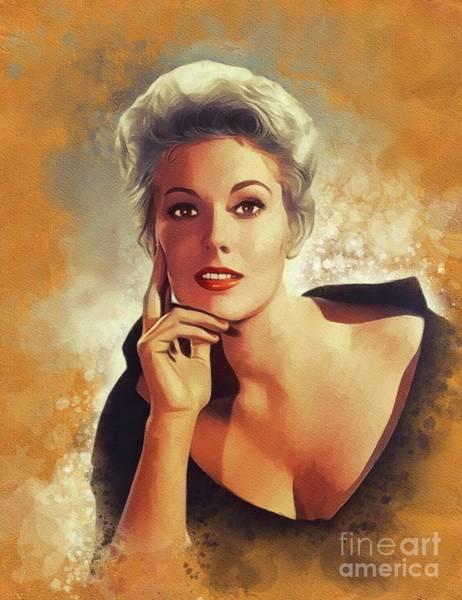 Wall Art - Painting - Kim Novak, Vintage Movie Star by John Springfield