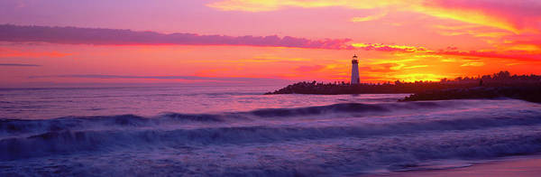 Wall Art - Photograph - Lighthouse On The Coast At Dusk, Walton by Panoramic Images