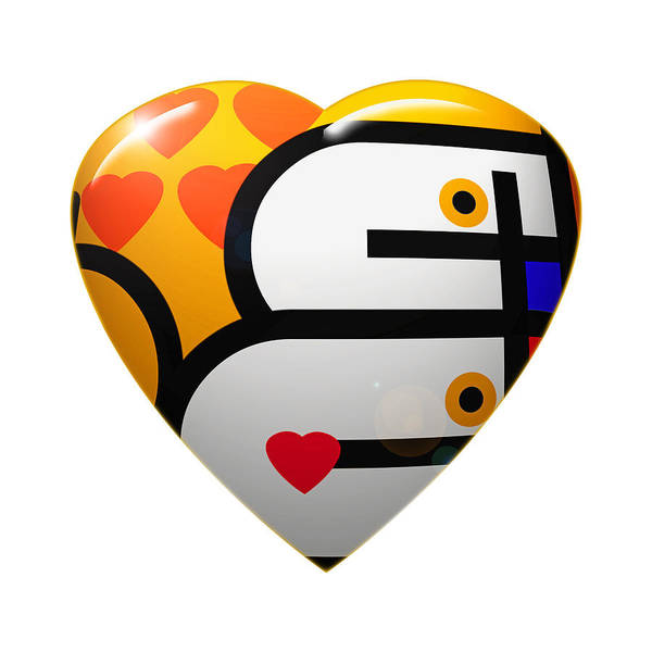 Digital Art - Love Heart by Charles Stuart