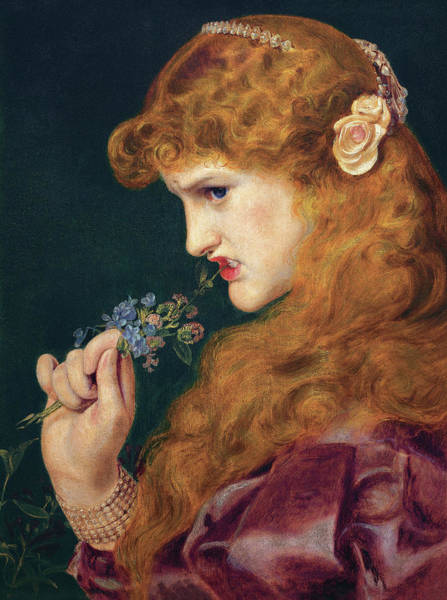 Wall Art - Painting - Love's Shadow by Frederick Sandys