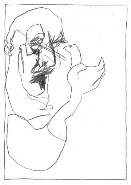Drawing - Man Holding A Bird by Artist Dot