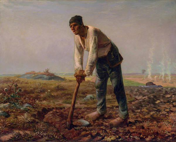 Wall Art - Painting - Man With A Hoe by Jean-Francois Millet
