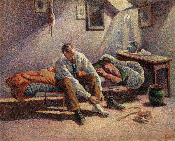 Wall Art - Painting - Morning Interior by Maximilien Luce