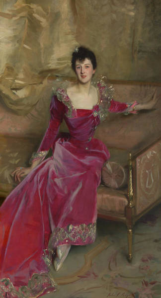 Wall Art - Painting - Mrs. Hugh Hammersley by John Singer Sargent