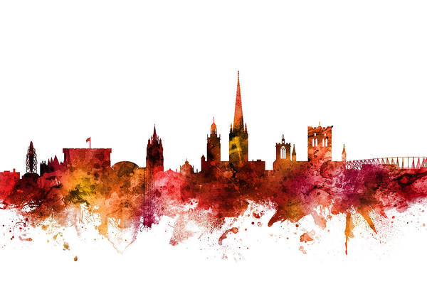 Wall Art - Digital Art - Norwich England Skyline by Michael Tompsett