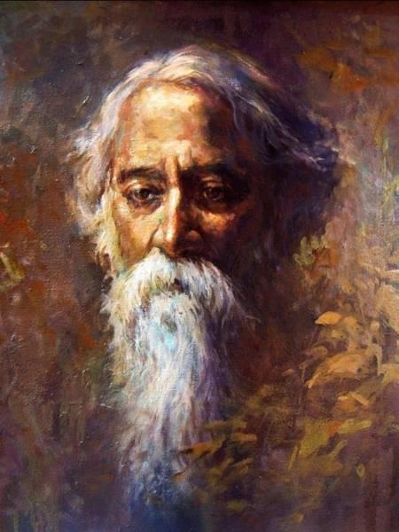 Wall Art - Painting - Old Man by Vishal Gurjar