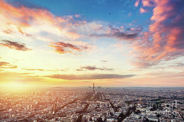Wall Art - Photograph - Paris, France At Sunset. by Michal Bednarek