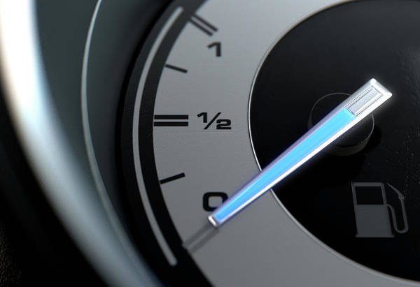 Dashboard Digital Art - Petrol Gage Empty by Allan Swart