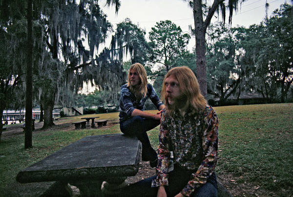 Selective Focus Photograph - Photo Of Allman Brothers by Michael Ochs Archives