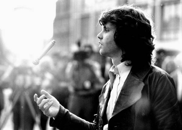 Horizontal Photograph - Photo Of Jim Morrison by Michael Ochs Archives