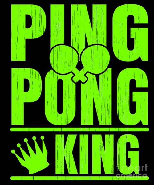 Ping-pong Digital Art - Ping Pong Gift For Table Tennis Champions Players And Bat And Ball Fans by Martin Hicks