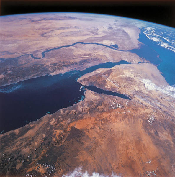 Satellite Image Wall Art - Photograph - Planet Earth Viewed From Space by Stockbyte