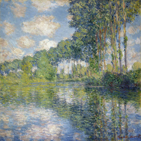 Wall Art - Painting - Poplars On The Epte, 1891 by Claude Monet