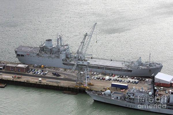 Wall Art - Photograph - Portsmouth Naval Base, England 2007 by Glenn Harvey