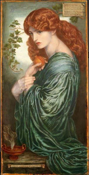 Six Wall Art - Painting - Proserpine by Dante Gabriel Rossetti