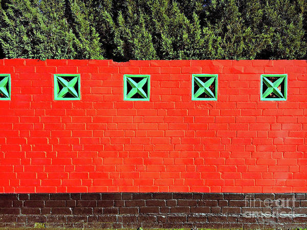 Wall Art - Photograph - Red Brick Wall by Tom Gowanlock
