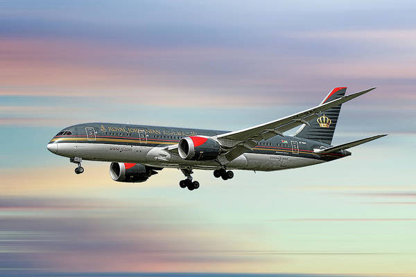 Wall Art - Mixed Media - Royal Jordanian Boeing 787-8 Dreamliner by Smart Aviation
