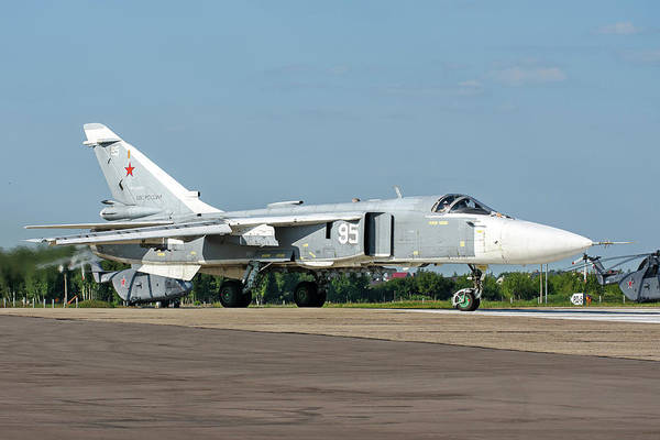 Wall Art - Photograph - Russian Aerospace Forces Su-24m2 Strike by Daniele Faccioli