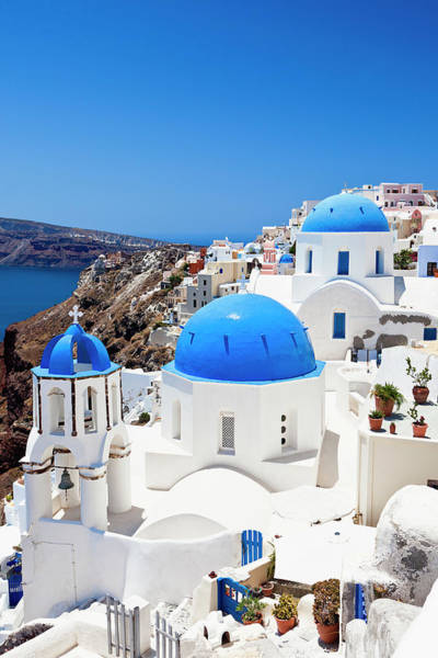 Aegean Sea Photograph - Santorini Famous Churches by Mbbirdy
