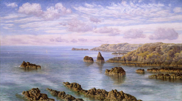 Wall Art - Painting - Southern Coast Of Guernsey by John Brett